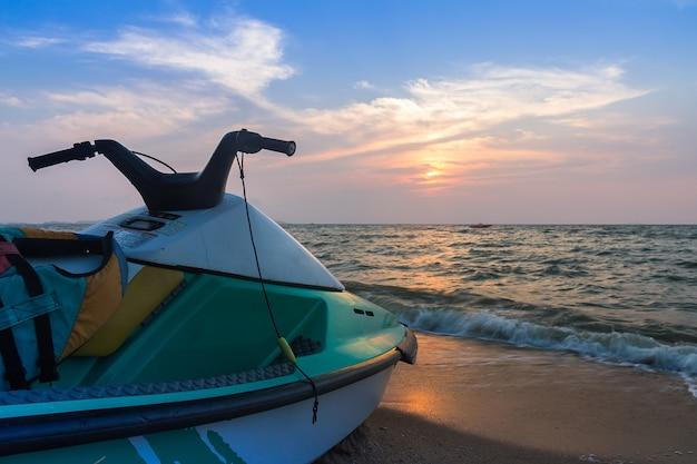 Jet ski on  beach