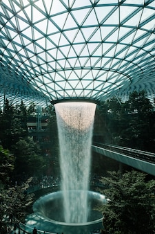 Jewel fountain in singapore