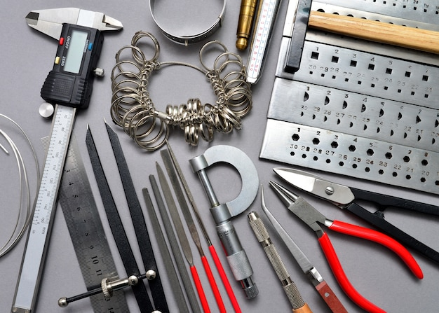 Jeweler tools background