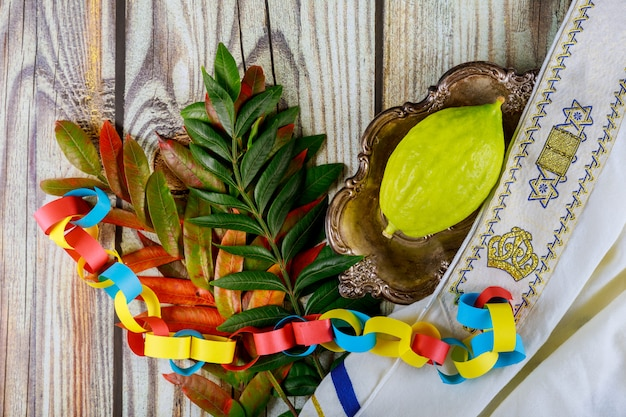 Jewish festival of sukkot items