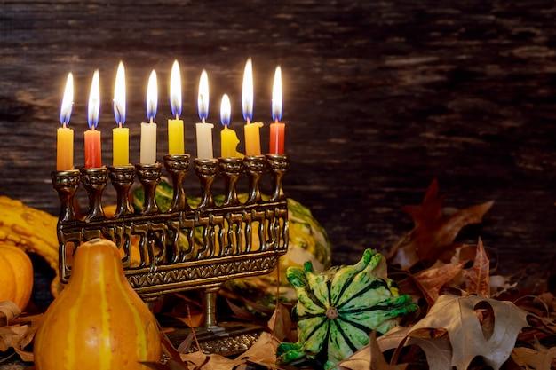 Jewish holiday hannukah symbols - menorah