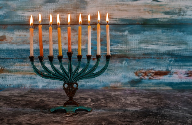 Jewish holiday hannukah symbolsmenorah