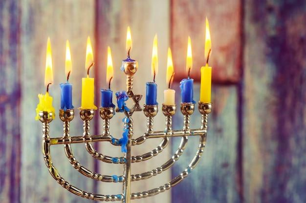 유태인 휴일 유태인 상징 하누카 빛의 유태인 축제