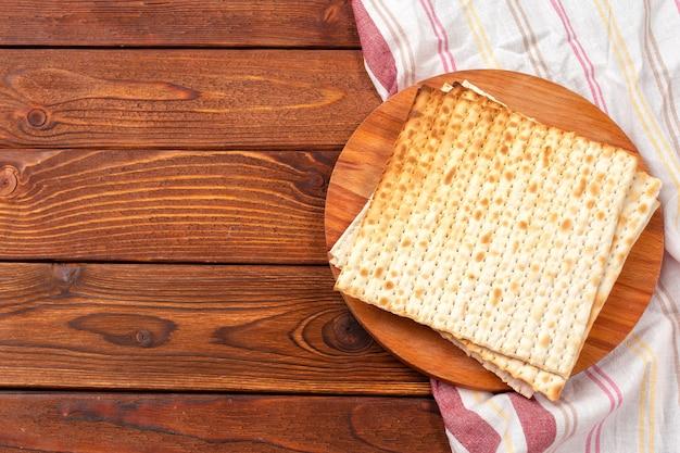 Jewish traditional passover matzo bread