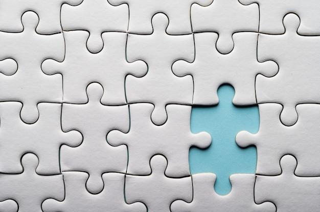 누락 된 조각 직소 퍼즐. 퍼즐 조각 누락