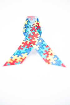 Jigsaw ribbon for autism