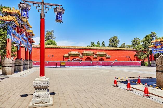 Jingshan park, or the coal mountain, near the forbidden city, beijing, china