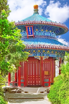 Jingshan park, or the coal mountain, near the forbidden city, guanmiao pavilion. beijing, china