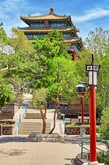 Jingshan park, pavilion of everlasting spring (wanchun ting), near the forbidden city, beijing. china