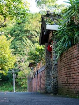 대만 신베이시 징통의 아침에 징통 마을.