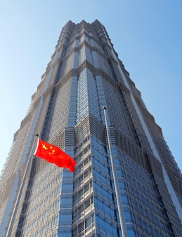 Jinmao building, pudong financial district, shanghai.