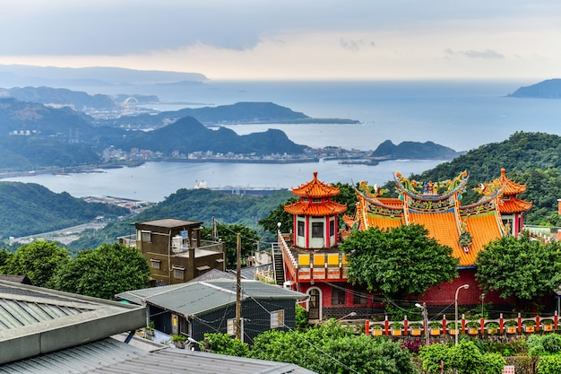 Jiufen old town is a famous scenic in ruifang district at the northern coast of taiwan