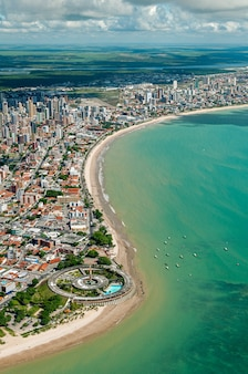 Joao pessoa paraiba brazil on march 21 2009 aerial view of the city showing the beaches