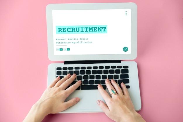 Grafico di qualifica di reclutamento di assunzione di carriera di lavoro