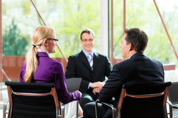 Job interview with hr and applicant