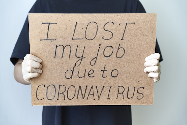 Job loss due to virus pandemic concept
