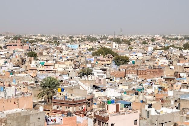 ジョードプルインド晴れた日のジョードプルの街並みの眺め