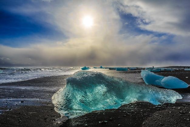 Ледниковая лагуна йокулсарлон исландия исландия в исландии