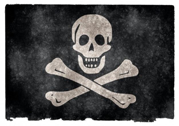 Jolly roger пиратский флаг гранж