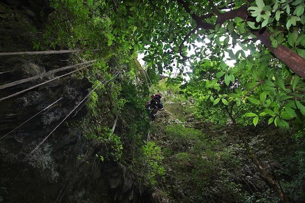 Jomblang cave near yogyakarta city, java, indonesia