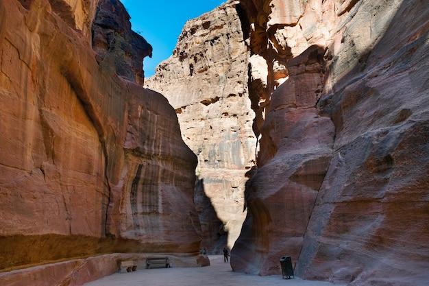 Jordan famous canyon in petra