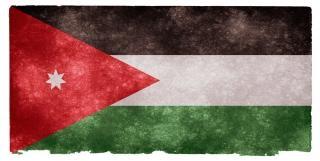 Иордания гранж флаг носить