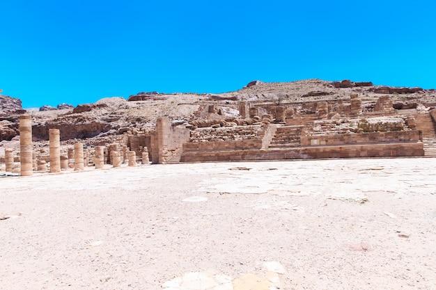 ペトラのヨルダン砂漠