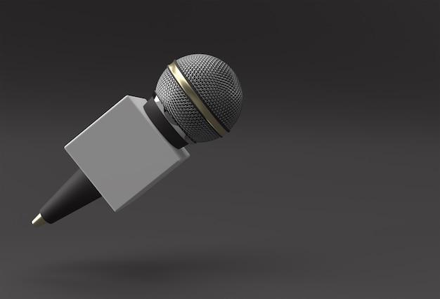 저널리즘 개념입니다. 라이브 뉴스 3d 렌더링 배경