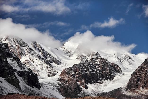 Journey through altai mountains to aktru. hiking