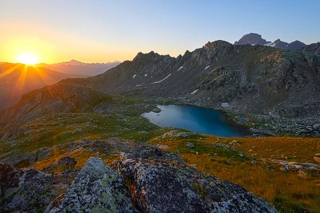 Journey through mountain peaks of the caucasus