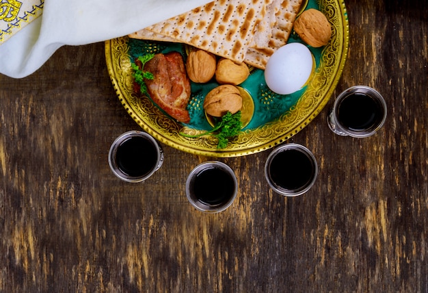 Judaism and religious torah on jewish matza on passover