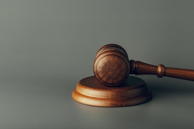 Judge gavel close up