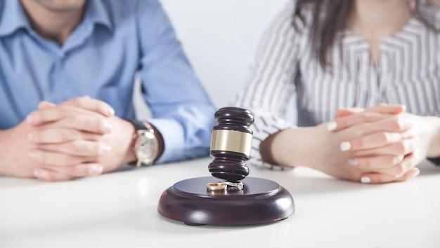 Judge gavel on the desk