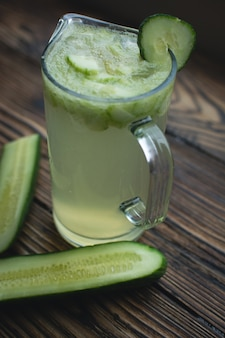 Jug of cucumber lemonade
