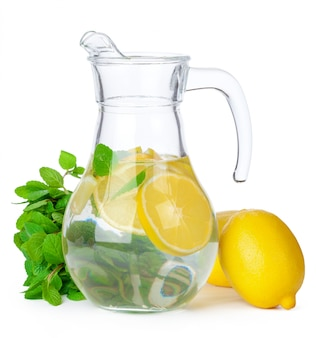 Jug of lemonade isolated