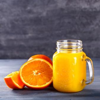 Juice fresh orange. summer party drink.