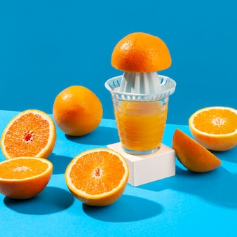 Juice maker and oranges