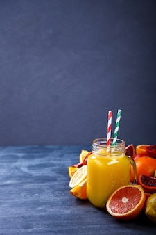 Juices fresh orange and citrus.summer party drink.