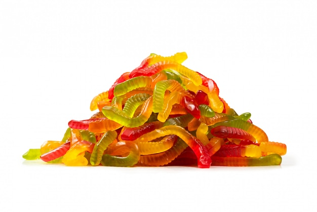 Juicy colorful jelly sweets. gummy candies.