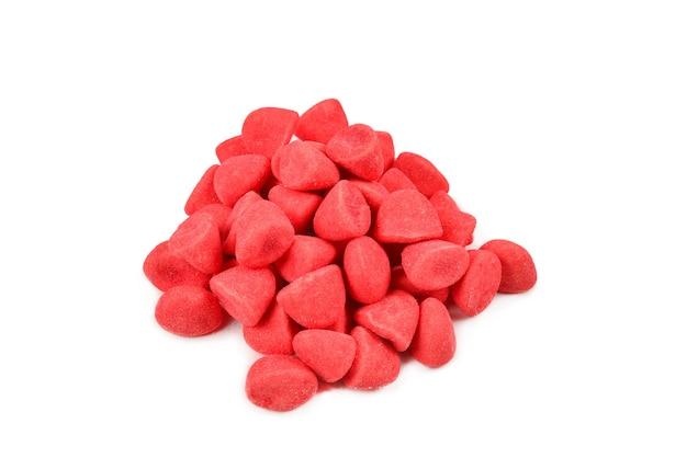 Сочные красочные конфеты желе, изолированные на белом. мармеладные конфеты.