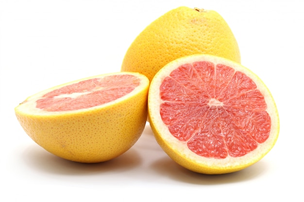 Juicy grapefruits orange