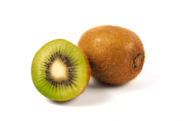 Juicy kiwi fruit on white