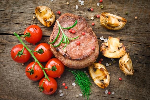 Juicy organic grilled steak