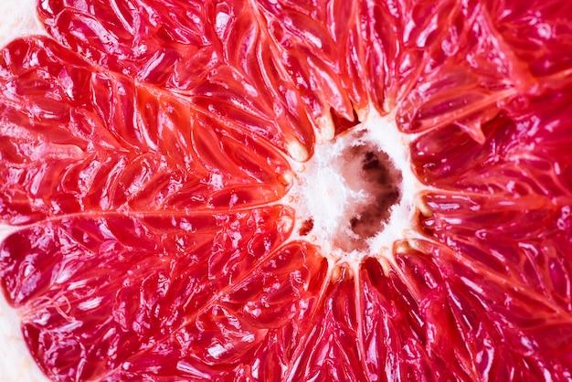 Juicy ripe grapefruit close-up