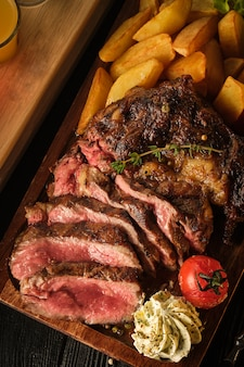 Juicy steak with fragrant butter