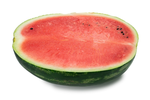 Juicy watermelon slice isolated on white