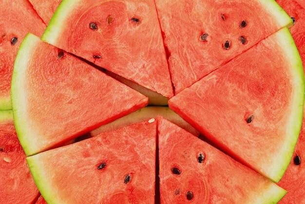Juicy watermelon slices background