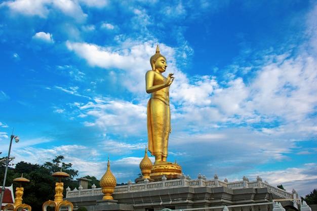 July 6, 2018. a large buddha image under the sky.