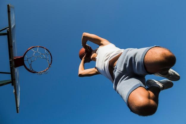 Jump shot of basketball player