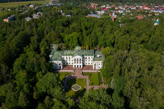 June 3, 2019.moscow region, russia. the former old noble manor of lyalovo is located in the park-hotel morozovka.